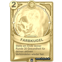 Farbkugel (gold)